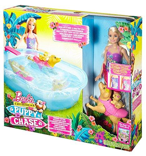 Barbie Swimmin Pup Pool Set