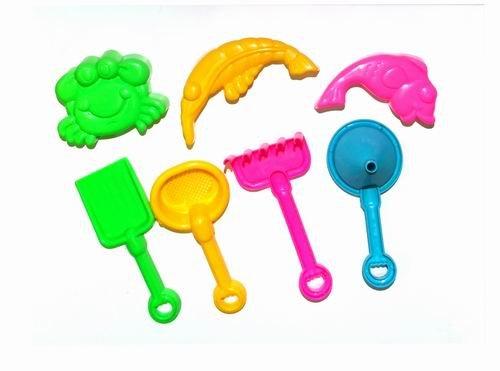 7 Piece Childrens Kids Mini Toy BeachSandbox Tool Play set