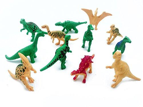 IFfree Realistic Looking 2 34 Dinosaurs Pack of 12 Plastic Assorted Dinosaur Figures