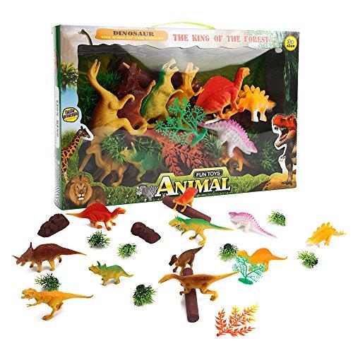 ToyerBee Simulation Dinosaurs Pack 11 Pcs Plastic Dinosaur Kit For Kids