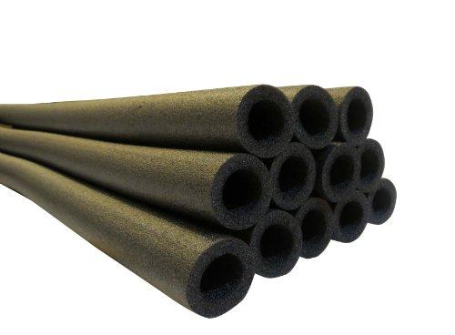 33 Inch Trampoline Pole Foam sleeves fits for 15 Diameter Pole - Set of 16 -Black