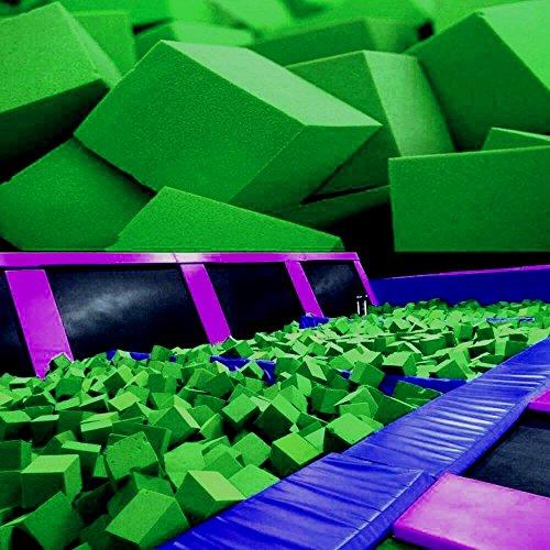 Foam Pits BlocksCubes 1000 pcs Lime Green 8x8x8 1536 Flame Retardant Pit Foam Blocks For Skateboard Parks Gymnastics Companies and Trampoline Arenas