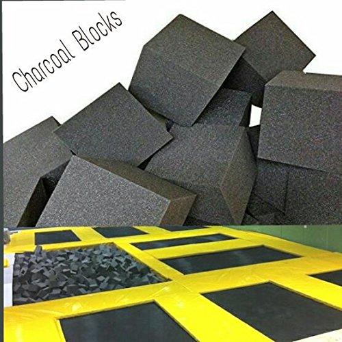 Foam Pits CubesBlocks 68 pcs8x8x8 Charcoal 1546 Flame Retardant Pit Foam Blocks For Skateboard Parks Gymnastics Companies and Trampoline Arenas