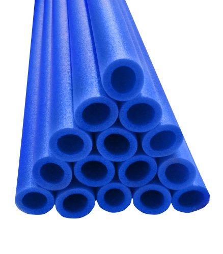 Upper Bounce 44-Inch Trampoline Pole Foam Sleeves Fits for 15-Inch Diameter Pole Set of 12 Blue
