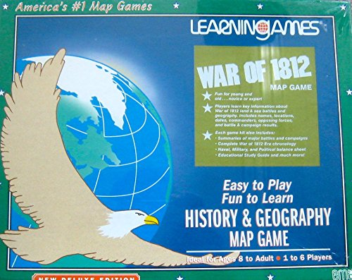 War of 1812 History and Geography Map Game