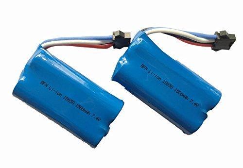Sky Hobbie 2 Pack 74V 1500Mah Li ion Battery For UDI007 Voyager Remote Control BoatGeniune UDI