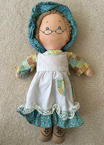 VINTAGE 1977 Knickerbocker ORIGINAL HOLLY HOBBIE 15 Rag Doll GRANDMA HOBBIE