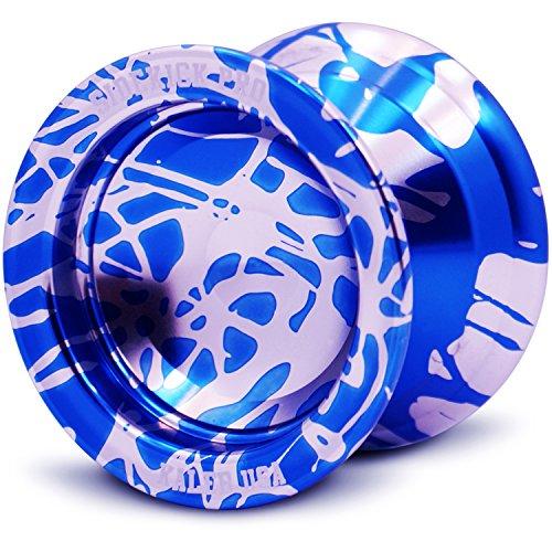 Silver Blue Reverse Splashes REsponsive Yo-Yo Professional Sidekick Pro YoYo