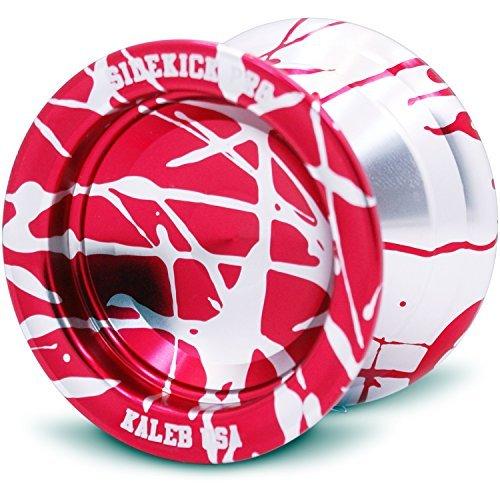 Silver Red Reverse Splashes REsponsive Yo-Yo Professional Sidekick Pro YoYo by Sidekick Yoyo