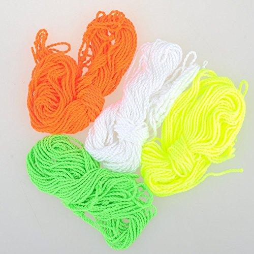 Haibei 40 Polyester Yoyo Strings Yo-yo String 41 Inch white orange yellow green each has 10
