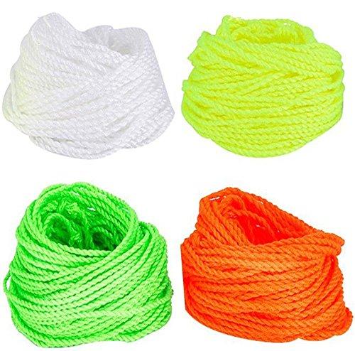 Qingsun 40 Pcs YoYo Strings Polyester Rope Replacement10 Each - Green Yellow Orange White Kids Toys Gifts Classic Toys