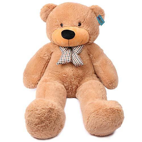 120 cm Brown Giant Teddy Bear Big Huge Stuffed Toy Valentine Gift - by CandyCane3