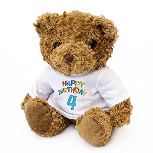 NEW - HAPPY BIRTHDAY 4 - Teddy Bear - Cute And Cuddly - 4th Gift Present