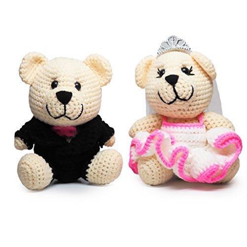 Bearly Wed Teddy Bears Handmade Crochet