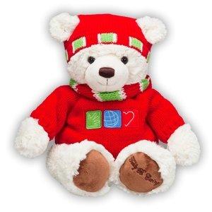 GUND TEDDY B CARING HAPPY HOLIDAYS FROM THE BEARS THAT CARES PLUSH TOY DOLL TEDDY BEAR