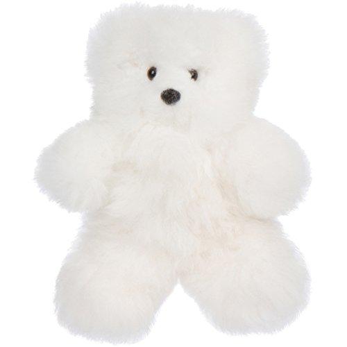 12 Handmade Alpaca Teddy Bear - Luxuriously Soft and Hypoallergenic - Artisan Made in Peru  White