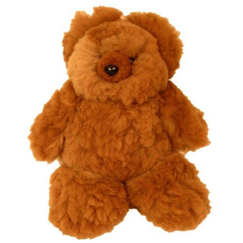 Alpaca Light Brown Fur Teddy Bear Plush Natural Fair Trade Peru