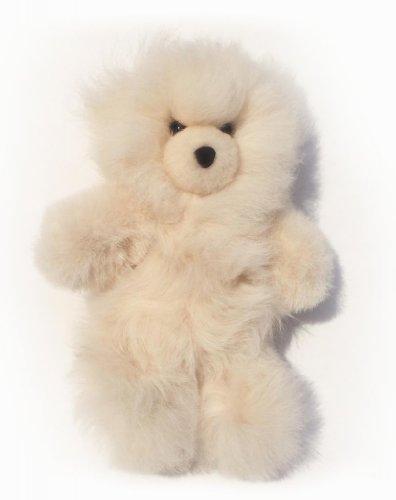 Baby Alpaca Fur Teddy Bear - Hand Made 10 Inch Champagne