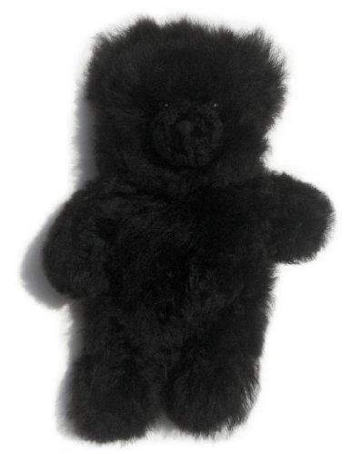 Baby Alpaca Fur Teddy Bear - Hand Made 12 Inch Black