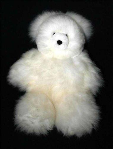 Soft Cuddly Baby Alpaca Fur Large Hand Made Panda Teddy Bear ATB_CREAMWHITE21_011