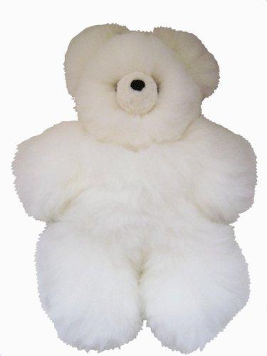 White Baby Alpaca Teddy Bear - Baby Alpaca Fur - - 9 Inches by Sanyork Fair Trade