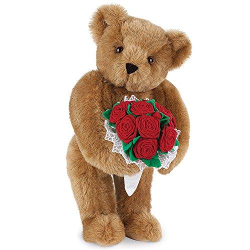 Vermont Teddy Bear Rose Bear - 15 Inch Classic