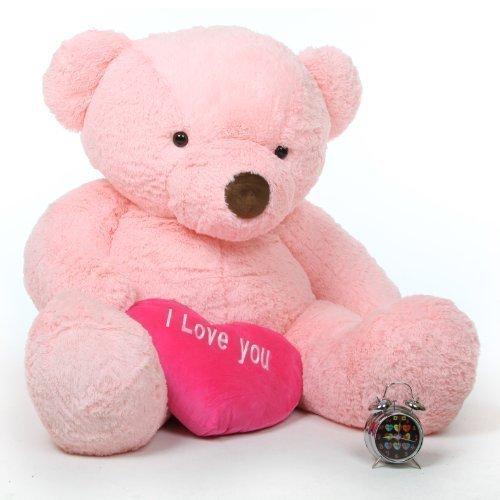 Gigi Love Chubs - 55 - Pink Life Size I Love You Valentines Day Teddy Bear Hug Toy by Giant Teddy