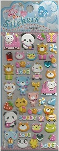 Cute Bear Puffy Sticker 2 Sheets - 10249