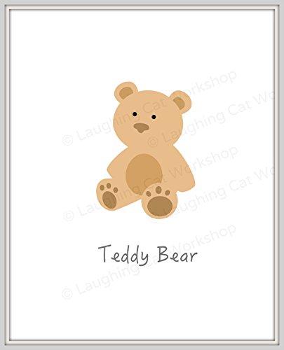 Cute baby print Cute Bear print cute bear nursery decor baby boy girl nursery wall art cute kids room wall art Teddy Bear wall art Baby gift