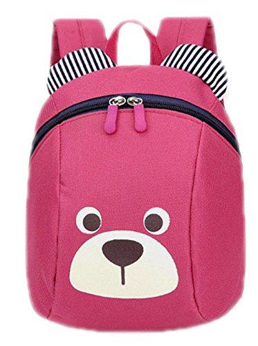 Skyingfly cute bear Backpack Oxford Baby Boys Girls School Bag pink