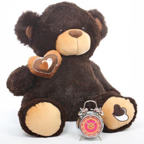 Sugar Pie Big Love 30 Super Cute Dark Chocolate Brown Big Valentines Day Teddy Bear Gift by Giant Teddy