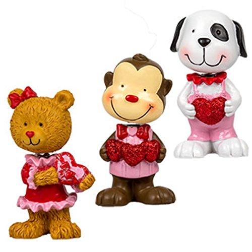 Valentine Friends Bobbleheads Monkey Teddy Bear Puppy