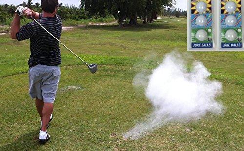 A99 Golf Joke Ball Exploding Golf Ball Prank Funny Gag Trick Gift 6 Balls2Packs