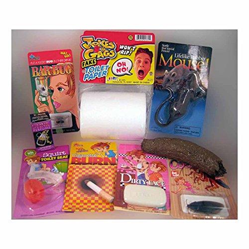 TRAVEL PRANK KIT - Stink Perfume Fake Dog Poop Rubber Mouse Joke Gag Trick Buyers Choice