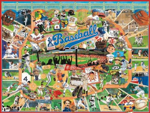 White Mountain Puzzles Baseball History - 1000 Piece Jigsaw Puzzle