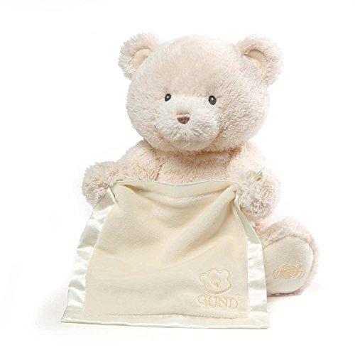 Baby GUND My First Teddy Bear Peek A Boo Animated Stuffed Animal Plush Cream 115