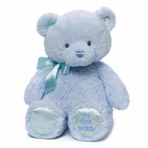 Baby GUND My First Teddy Bear Stuffed Animal Plush Blue 15