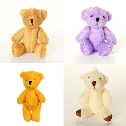 NEW Cute Cuddly Little ASSORTED Teddy Bears X 8 White Brown Orange Purple by London Teddy Bears