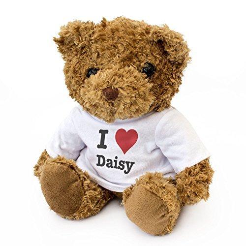 NEW - I LOVE DAISY - Teddy Bear - Cute And Cuddly - Gift Present Birthday Xmas Valentine by London Teddy Bears