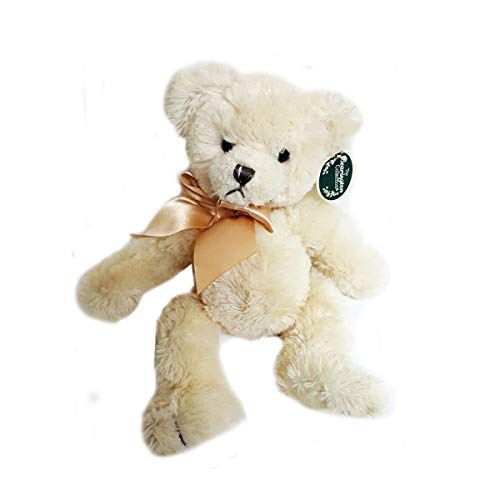 Bearington Collection The Baby Bramwell Plush Cream Teddy Bear 7 Sitting