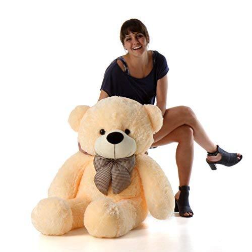 Giant Teddy Cozy Cuddles - 47 - Irresistibly Cute Extra Soft Vanilla Cream Big Plush Teddy Bear