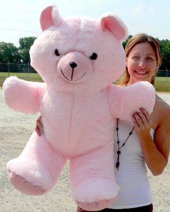 6b6c32ce24f Giant Pink Teddy Bear 36 Inches Soft 3 Foot Teddybear Made in USA