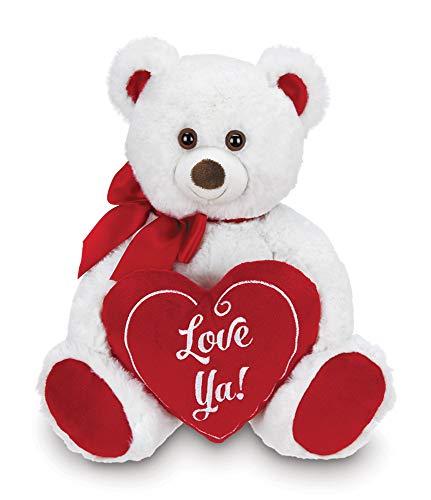Bearington Beary Bigheart Valentines Plush Stuffed Animal Teddy Bear with Heart 12 inches