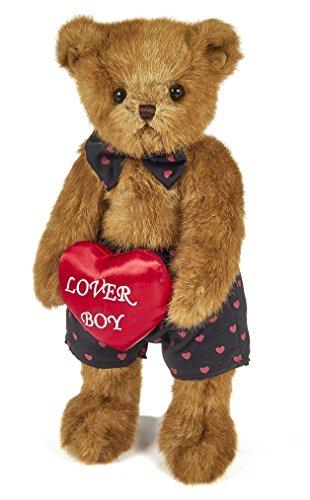 Bearington Carson Nova Valentines Plush Stuffed Animal Teddy Bear with Heart 14