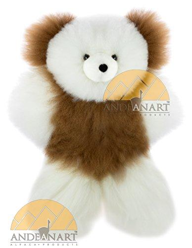 AUTHENTIC Collectible Alpaca Teddy Bear 13 fur to fur or 10 hide to hide - Baby Alpaca Fur - Multi Color
