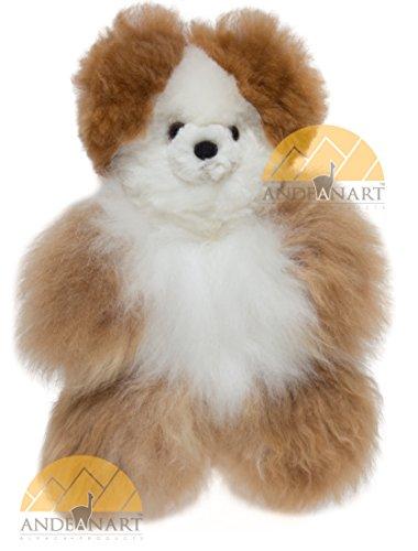 AUTHENTIC Collectible Alpaca Teddy Bear 9 12 fur to fur or 7 hide to hide - Baby Alpaca Fur - Multi Color