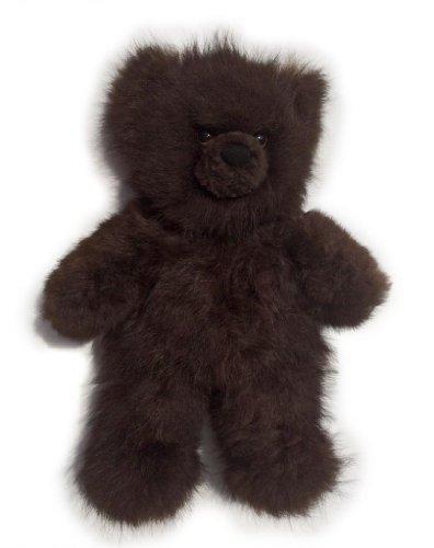 Baby Alpaca Fur Teddy Bear - Hand Made 12 Inch Dark Chocolate Brown