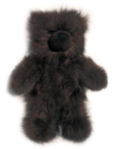 Baby Alpaca Fur Teddy Bear - Hand Made 12 Inch Mocha Brown