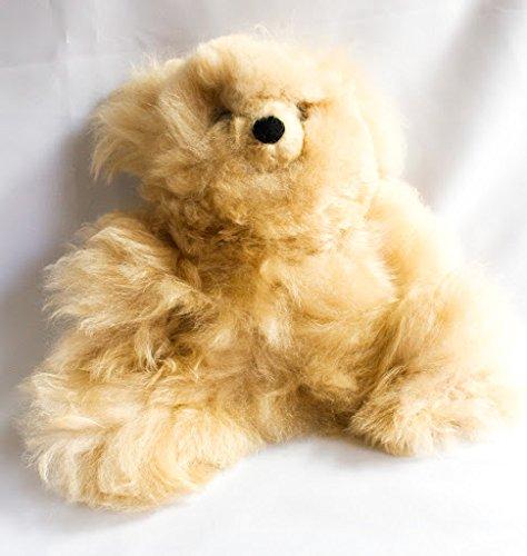 Baby Alpaca Teddy Bear Light Beige Handmade from Peru