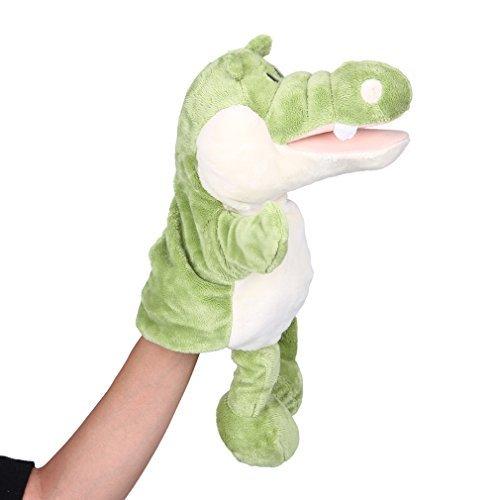Smile Wakiki Smile YKK hand puppet animal-style stuffed toys children hand puppet hand dancing toys gift crocodile Green  White